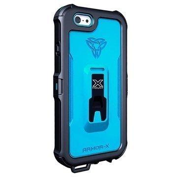iPhone 6 / 6S Armor-X MX-AP4 Carabiner Vesitiivis X-Mount Suojakotelo Dynaamisen Sininen