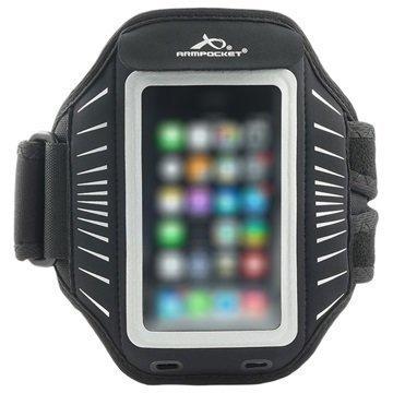 iPhone 6 / 6S Armpocket Racer Käsivarsihihna S Musta