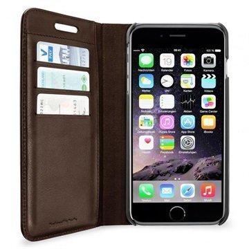 iPhone 6 / 6S Artwizz Lompakkomallinen Nahkakotelo Ruskea