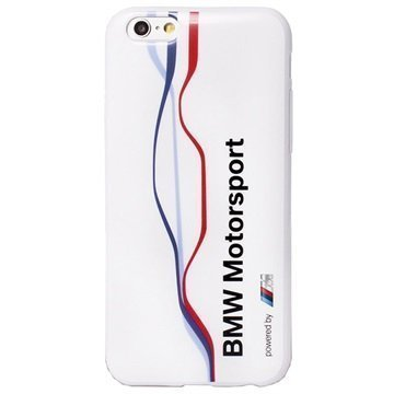 iPhone 6 / 6S BMW Raceway Twisted Tricolour TPU-Kotelo Valkoinen
