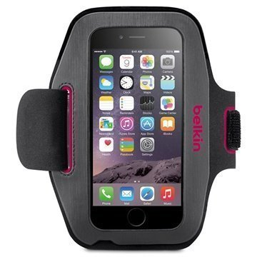 iPhone 6 / 6S Belkin Sport-Fit Armband Grey / Pink