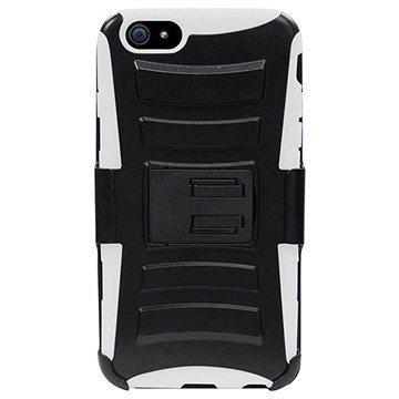 iPhone 6 / 6S Beyond Cell Armor Combo Suojakotelo Musta / Valkoinen