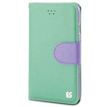 iPhone 6 / 6S Beyond Cell Infolio B Nahkainen Lompakkokotelo Mint / Violetti