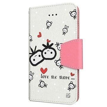 iPhone 6 / 6S Beyond Cell Infolio Design Nahkainen Lompakkokotelo Love Me More