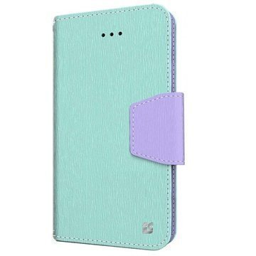 iPhone 6 / 6S Beyond Cell Infolio Nahkainen Lompakkokotelo Mint / Violetti