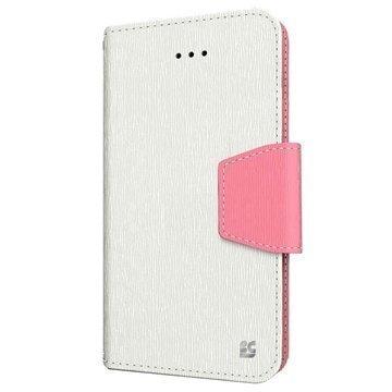 iPhone 6 / 6S Beyond Cell Infolio Nahkainen Lompakkokotelo Valkoinen / Pinkki