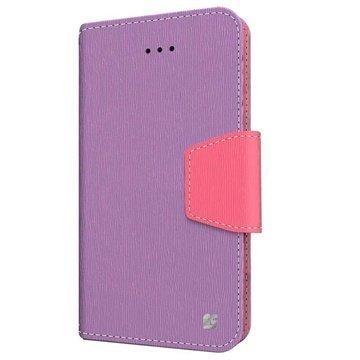 iPhone 6 / 6S Beyond Cell Infolio Nahkainen Lompakkokotelo Violetti / Pinkki