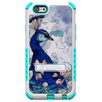 iPhone 6 / 6S Beyond Cell Tri Shield Design Hybrid Suojakuori Blue Peacock