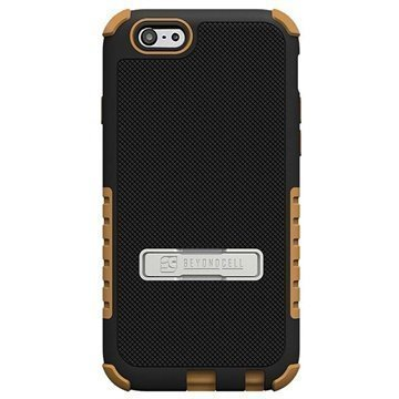 iPhone 6 / 6S Beyond Cell Tri Shield Hybrid Case Black / Brown