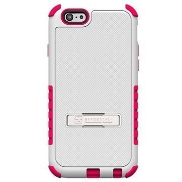 iPhone 6 / 6S Beyond Cell Tri Shield Hybrid Case White / Hot Pink
