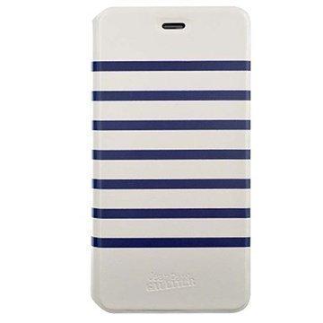 iPhone 6 / 6S BigBen Jean-Paul Gaultier Folio Kotelo Valkoinen / Laivaston Sininen