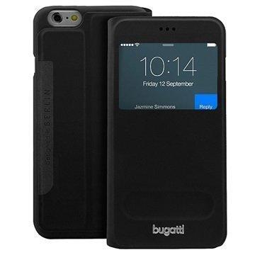 iPhone 6 / 6S Bugatti BookCover Lausanne Kotelo Musta