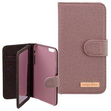 iPhone 6 / 6S Carpe Diem Mirror Lompakkokotelo Violetti