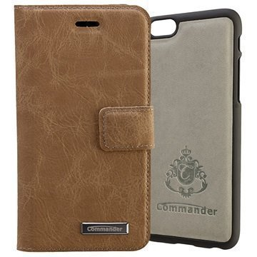 iPhone 6 / 6S Commander Book & Cover Kotelo Ruskea Nupukki
