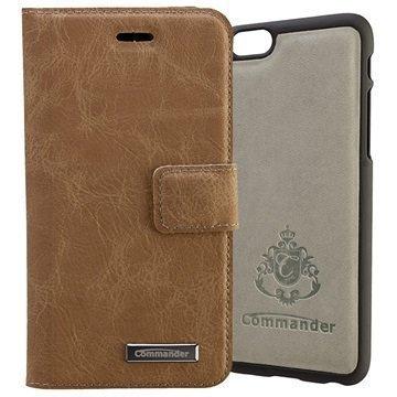 iPhone 6 / 6S Commander Book & Cover Kotelo Ruskea Nupukki