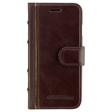 iPhone 6 / 6S Commander Book Elite Antique Läpällinen Nahkakotelo Ruskea