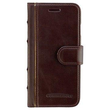 iPhone 6 / 6S Commander Book Elite Antique Läpällinen Nahkakotelo Ruskea