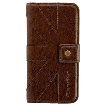 iPhone 6 / 6S Commander Venice Book Flip Leather Case Brown