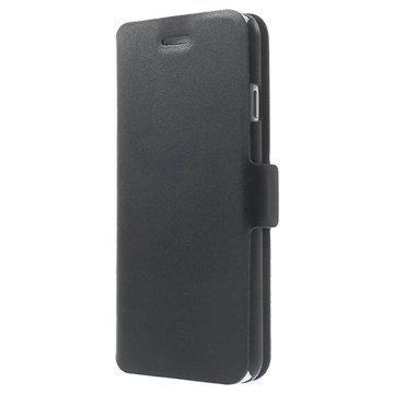 iPhone 6 / 6S Doormoon Wallet Nahkakotelo Musta