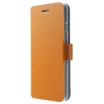 iPhone 6 / 6S Doormoon Wallet Nahkakotelo Oranssi