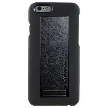 iPhone 6 / 6S Evouni S56 Nahkainen Arc Jalustakotelo Musta