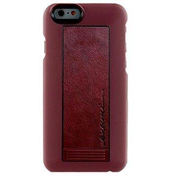 iPhone 6 / 6S Evouni S56 Nahkainen Arc Jalustakotelo Punainen