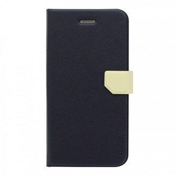iPhone 6 / 6S Fenice Diario Ver.2 Kotelo Laivaston Sininen / Norsunluu