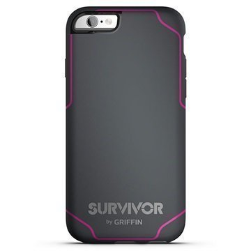 iPhone 6 / 6S Griffin Survivor Journey Kotelo Harmaa / Pinkki