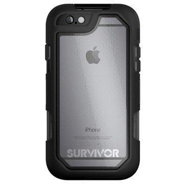 iPhone 6 / 6S Griffin Survivor Summit Kotelo Musta / Läpinäkyvä