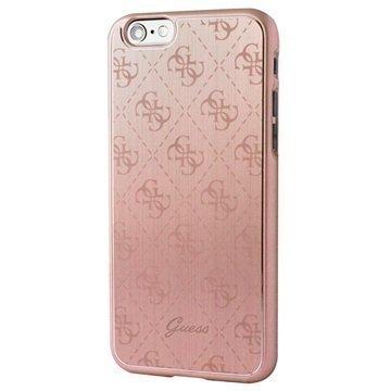 iPhone 6 / 6S Guess 4G Alumiininen Kova Kotelo Ruusukulta
