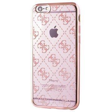 iPhone 6 / 6S Guess 4G TPU Suojakuori Läpinäkyvä / Ruusukulta