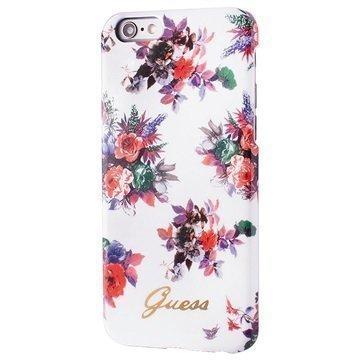 iPhone 6 / 6S Guess Blossom TPU Suojakuori Kukka / Valkoinen
