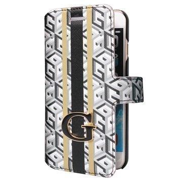 iPhone 6 / 6S Guess G-Cube Kirjamallinen Kotelo Musta