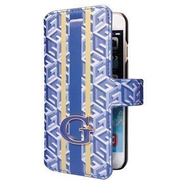 iPhone 6 / 6S Guess G-Cube Kirjamallinen Kotelo Sininen