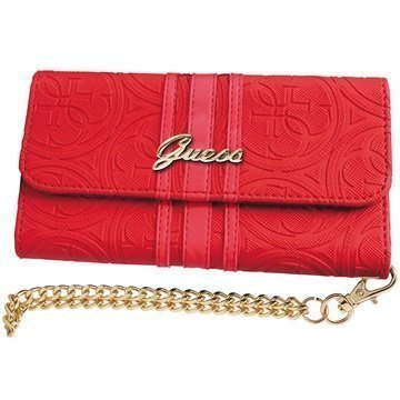 iPhone 6 / 6S Guess Heritage Clutch Kotelo Punainen
