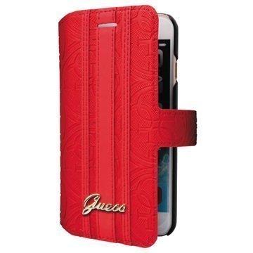 iPhone 6 / 6S Guess Heritage Kirjamallinen Kotelo Punainen