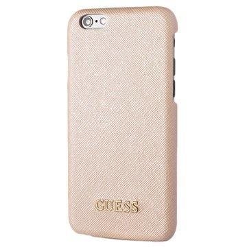 iPhone 6 / 6S Guess Saffiano Look Kova Suojakuori Beige