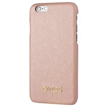 iPhone 6 / 6S Guess Saffiano Look Kova Suojakuori Pinkki