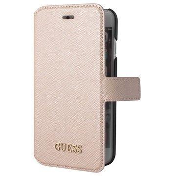 iPhone 6 / 6S Guess Saffiano Look Lompakkokotelo Beige