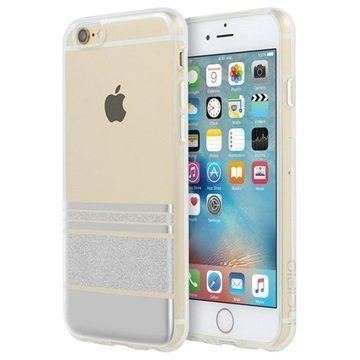 iPhone 6 / 6S Incipio Design Series Wesley Stripes Suojakuori Hopea