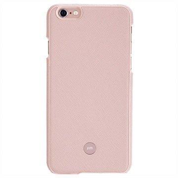 iPhone 6 / 6S Just Mobile Quattro Back Nahkakotelo Vaaleanpunainen