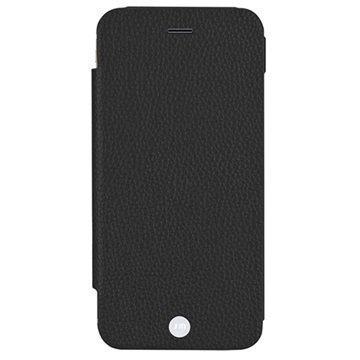 iPhone 6 / 6S Just Mobile Quattro Folio Nahkakotelo Musta