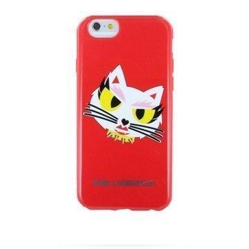 iPhone 6 / 6S Karl Lagerfeld Monster HeadShot TPU Suojakuori Punainen