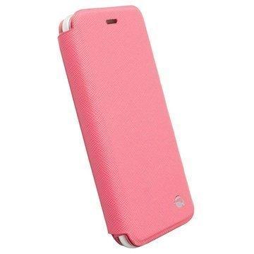 iPhone 6 / 6S Krusell Malmö Lompakkomallinen Nahkakotelo Pinkki