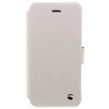 iPhone 6 / 6S Krusell Malmö Lompakkomallinen Nahkakotelo Valkoinen
