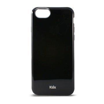 iPhone 6 / 6S Ksix Flex Solid TPU-Kotelo Musta
