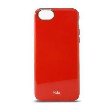 iPhone 6 / 6S Ksix Flex Solid TPU-Kotelo Punainen