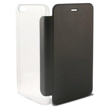 iPhone 6 / 6S Ksix Folio Kotelo Läpinäkyvä / Musta