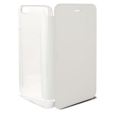 iPhone 6 / 6S Ksix Folio Kotelo Läpinäkyvä / Valkoinen