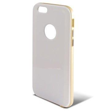 iPhone 6 / 6S Ksix Hybrid Kovakotelo Valkoinen / Kulta